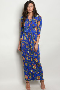 C36-A-4-D5898 ROYAL MULTI DRESS 2-2-2
