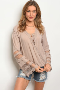 108-5-1-T23823 TAUPE TOP 2-2-2