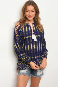 119-3-1-T23852 NAVY YELLOW TOP 2-2-2