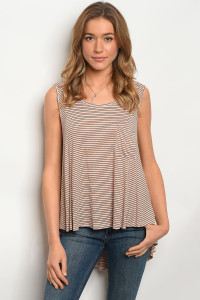 C28-B-2-T7311 ORANGE BLACK STRIPES TOP 4-2