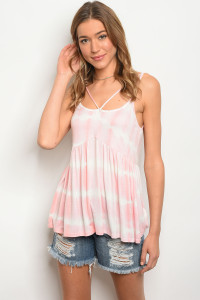 C37-B-2-T3006 PINK IVORY TOP 2-2-2