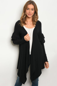 C85-A-1-C7539 BLACK CARDIGAN / 3PCS