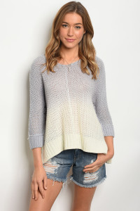 110-6-4-S5028 BLUE IVORY SWEATER 3-2-1