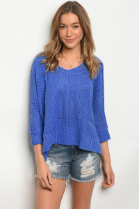 110-6-4-S5028 BLUE SWEATER 3-2-1