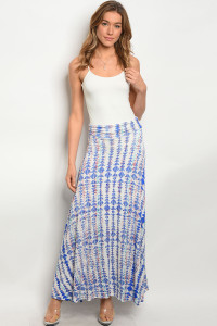 C12-A-1-S1139434 IVORY BLUE SKIRT / 3PCS