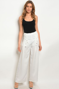 126-1-1-P1355 OFF WHITE PANTS 3-2-1