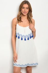 114-4-2-D1231 WHITE BLUE DRESS 3-2-2