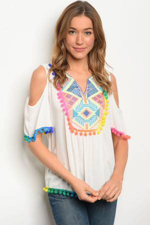 S9-14-4-T1202 IVORY MULTI TOP 2-2-2