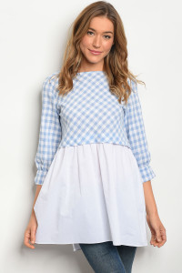 114-5-3-T3365 BLUE WHITE TOP 2-2-2