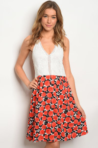 129-3-1-D262 WHITE RED DRESS 2-1
