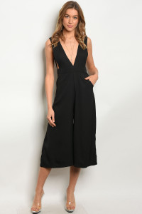 119-3-4-J055 BLACK JUMPSUIT 4-1-1