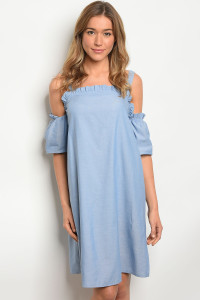 114-5-1-D2124 LIGHT BLUE DENIM DRESS 2-2-2