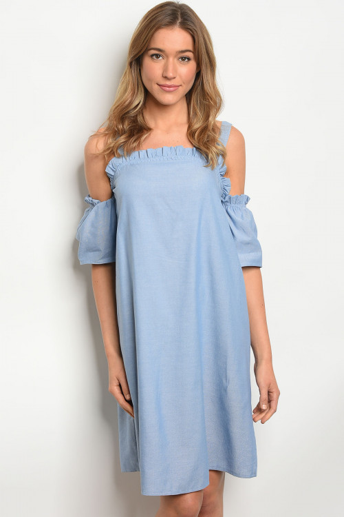 S25-5-3-D2124 LIGHT BLUE DENIM DRESS 2-2-2