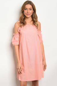 S15-4-1-D2124 PEACH DENIM DRESS 2-2-2