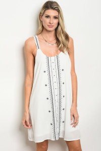 126-1-2-D42215 OFF WHITE BLACK DRESS 2-2-2