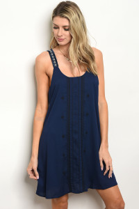 114-1-1-D42215 NAVY WHITE DRESS 2-2-2