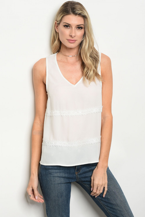 108-5-2-T23869 OFF WHITE TOP 2-2-2