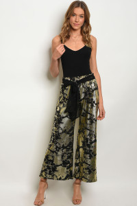120-3-4-P6046 BLACK GOLD PANTS / 3PCS