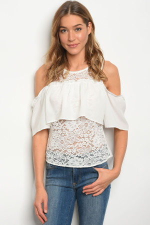111-3-1-T8034 OFF WHITE TOP 2-2-2
