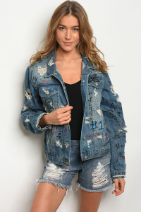 S12-9-1-J558 BLUE DENIM JACKET 3-2-1