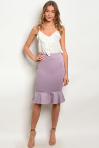 C42-A-2-S410 LILAC SKIRT 2-2-2