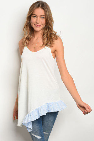 C12-A-3-T13451 OFF WHITE BLUE TOP 3-2-1