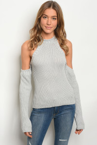 126-1-3-S1001 GRAY SWEATER 3-2-1