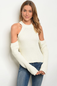 126-1-3-S1001 IVORY SWEATER 3-2-1