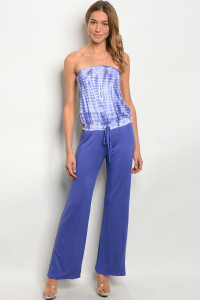 C29-A-2-J71479 PURPLE TIE DYE JUMPSUIT 2-2-2