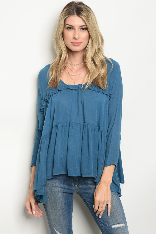 113-1-1-T2586 TEAL TOP 2-2-2