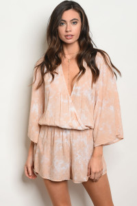 S10-15-5-R12369 PEACH WASH ROMPER 3-2-1
