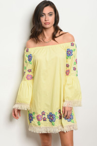 122-2-2-D509 YELLOW DRESS 2-1