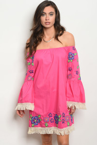122-2-2-D509 FUCHSIA DRESS 4-1-3
