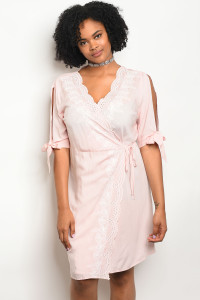 115-3-5-D59206X PINK PLUS SIZE DRESS 2-2-2