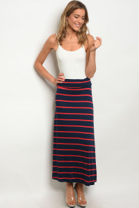 C19-A-2-S5785 NAVY RED SKIRT 2-2-2