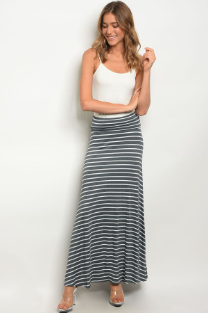 C33-A-2-S5785A GRAY WHITE SKIRT 2-2-2