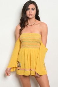 112-4-2-R49182 YELLOW ROMPER 2-2-2