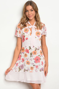113-2-1-D62449 OFF WHITE FLORAL DRESS 2-2-2