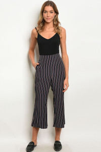 111-2-3-P81306 NAVY RED STRIPES PANTS 2-2-2