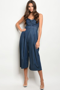 123-1-2-J34005 DARK BLUE DENIM JUMPSUIT 3-2-1