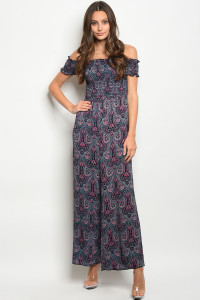 C62-A-2-NA-J19110 NAVY CORAL JUMPSUIT 2-2-1