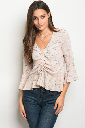 C78-B-3-T75913 BLUE BLUSH TOP 2-2-2