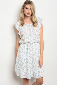 C93-A-1-D11132 OFF WHITE BLUE DRESS 1-1-2