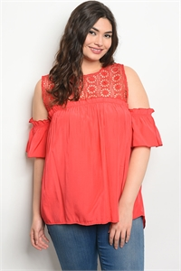 135-1-3-T59164X TOMATO PLUS SIZE TOP 2-2-2