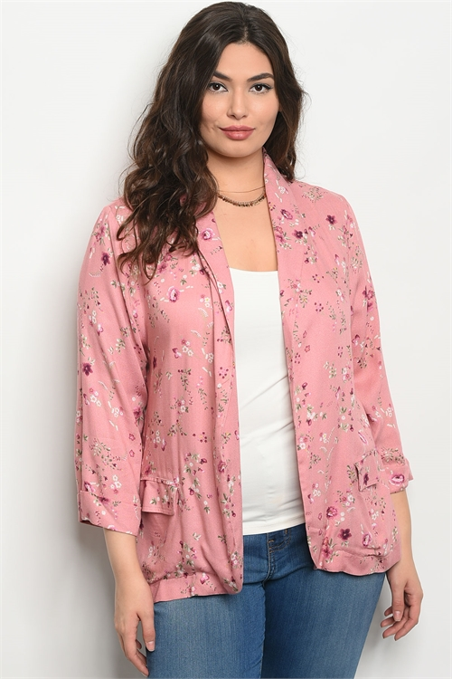 111-1-3-J59149X BLUSH FLORAL PLUS SIZE JACKET 2-2-2