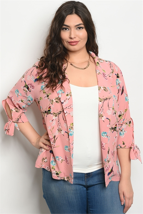 111-1-3-J59161X BLUSH FLORAL PLUS SIZE JACKET 2-2-2