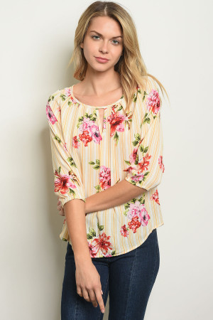 C15-B-3-T1006 OFF WHITE YELLOW TOP 2-2-2