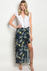 130-3-3-S7048 NAVY YELLOW SKIRT 4-2-1