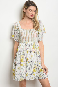S17-12-2-D62717 OFF WHITE FLORAL DRESS 4-2-2