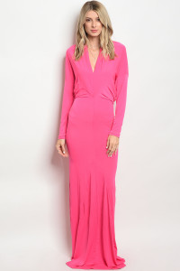 C48-A-3-D0051 FUCHSIA DRESS 2-2-2